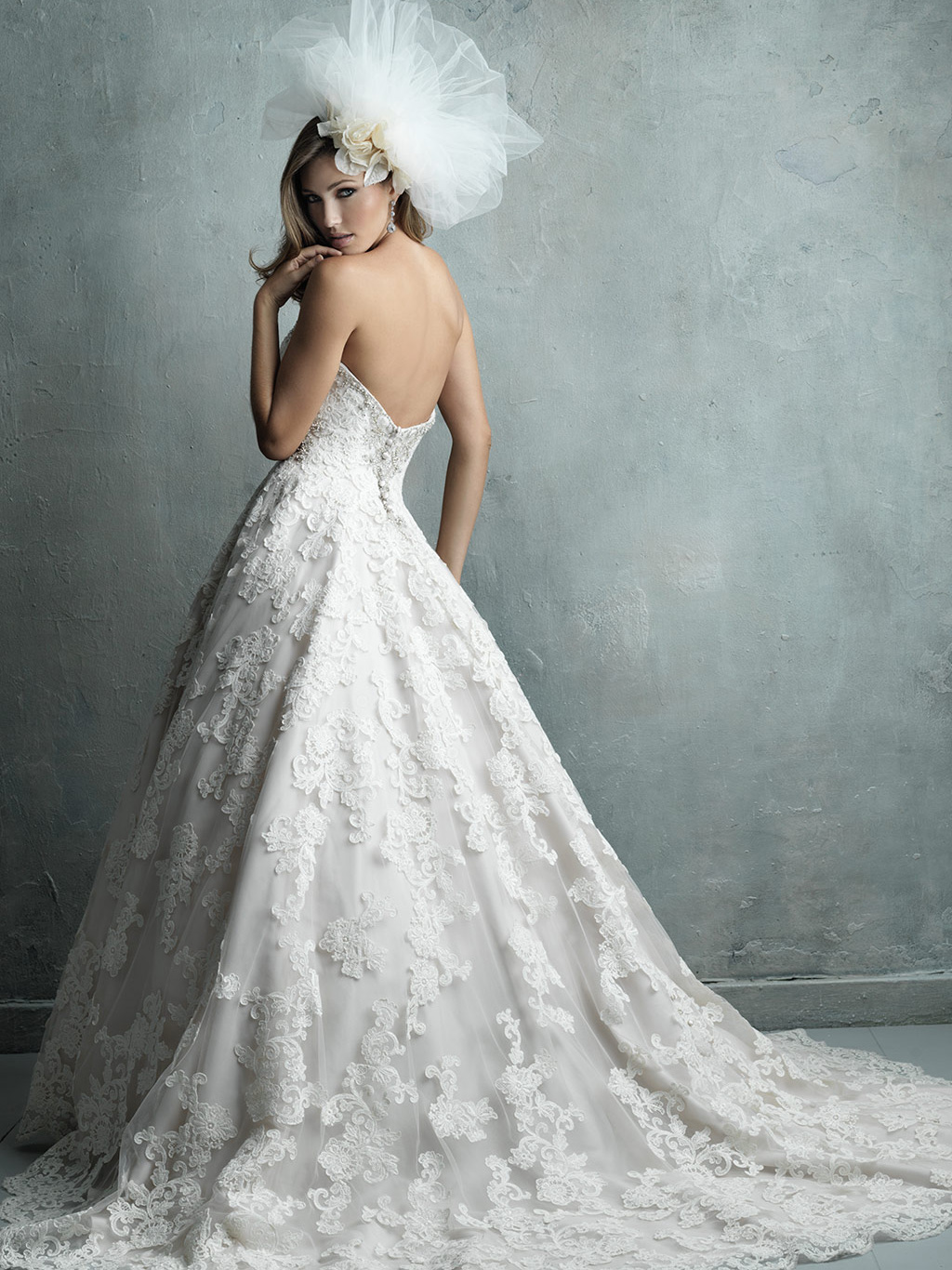 Allure Couture Sweetheart Lace Wedding Dress C328|DimitraDesigns.com