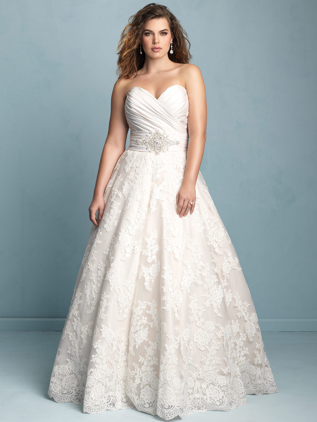 Allure Women Strapless Sweetheart Wedding Dress W351|DimitraDesigns.com