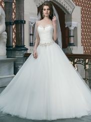 Strapless Sweetheart Justin Alexander Wedding Dress 8716