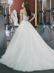 Strapless Sweetheart Justin Alexander Wedding Dress 8724