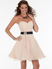 Strapless Sweetheart Pretty Maids Bridesmaid Short Dress 22589