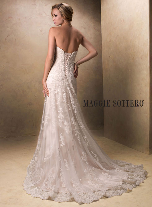 Exquisite Modified A Line Bridal Gown By Maggie Sottero Emma