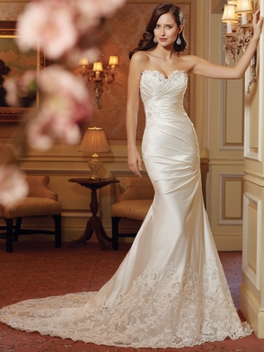 Sweetheart Beaded And Pleated Bridal Gown Sophia Tolli Doreah Y11414