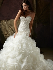 Sweetheart Beaded Bridal Gown Mori Lee Angelina Faccenda 1241