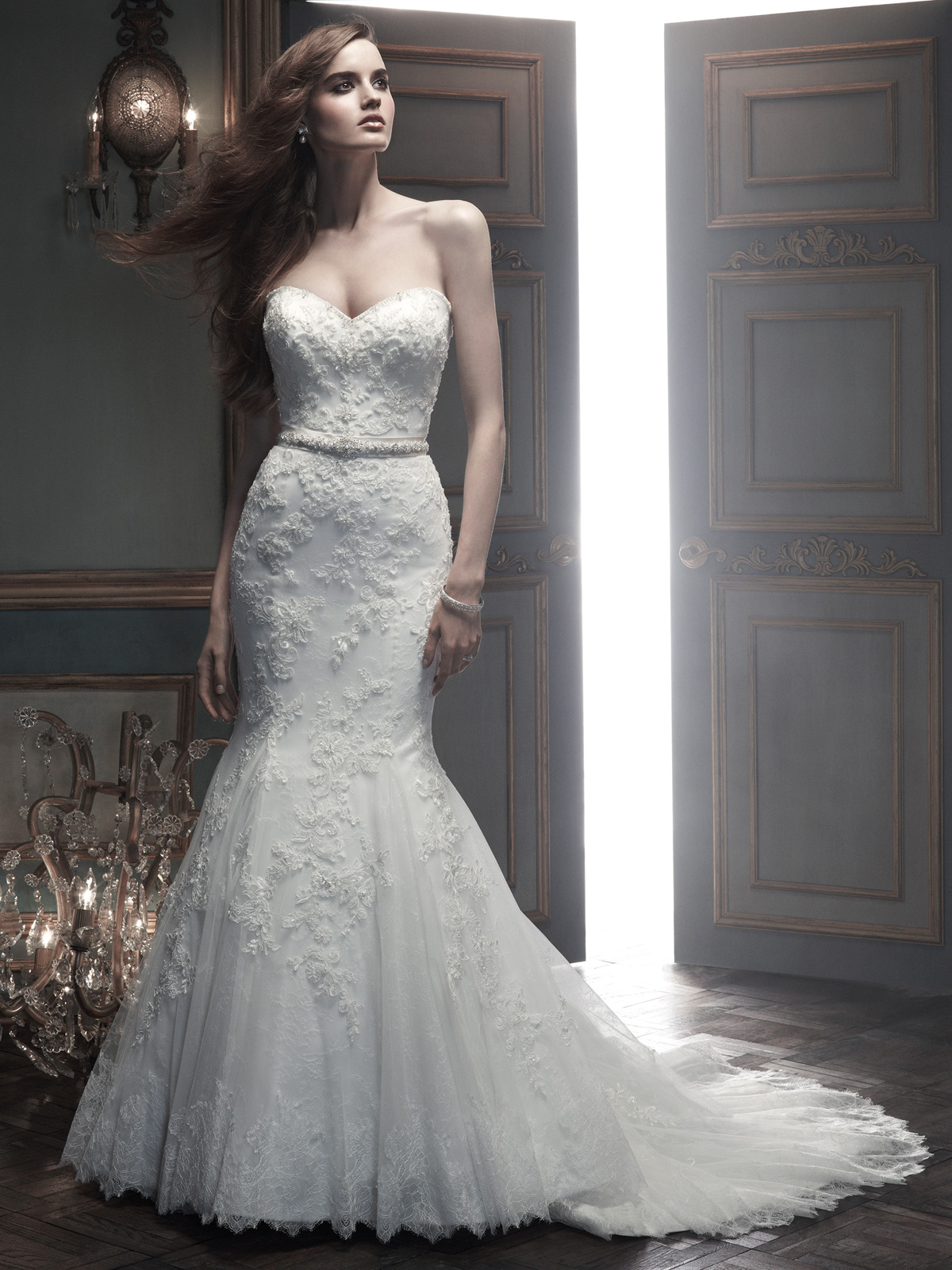 sweetheart mermaid cb couture bridal gown b069