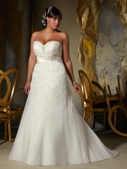 Sweetheart Beaded Lace Bridal Gown Mori Lee 3133