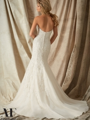 Sweetheart Beaded Lace Mermaid Angelina Faccenda by Mori Lee Wedding Dress 1322