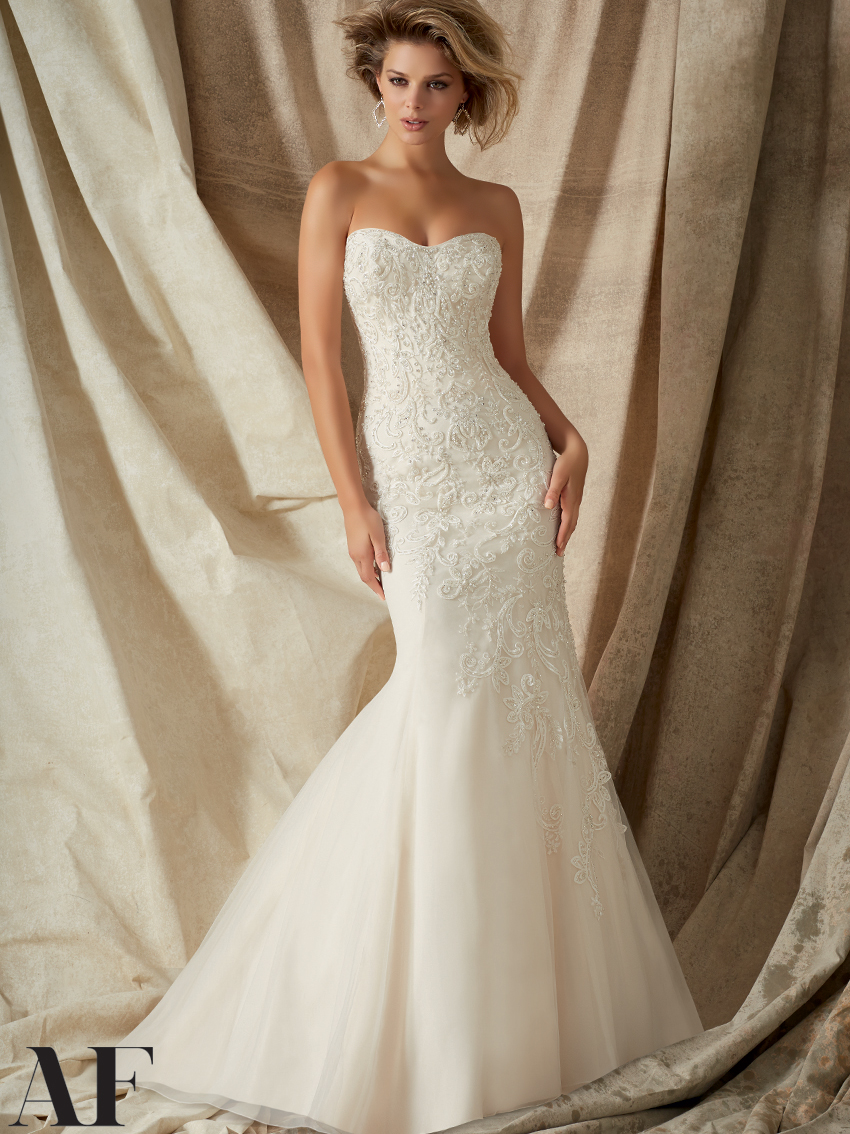 Mermaid style wedding dresses dimitradesigns sweetheart beaded lace mermaid angelina faccenda by mori lee wedding dress 1322 ombrellifo Image collections