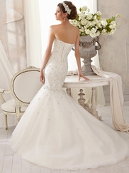 Sweetheart Beaded Mori Lee Blu Wedding Dress 5215