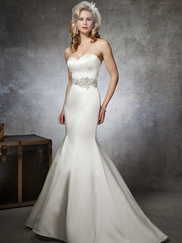 Sweetheart Bust Regal Satin Mermaid Justin Alexander 8659 Bridal Gown