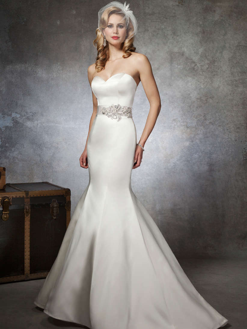 Sweetheart mermaid justin alexander bridal gown 8659 for Satin sweetheart mermaid wedding dress