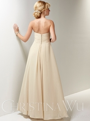 Sweetheart Chiffon Flowing A-line Christina Wu Occasions Bridesmaid Dress 22663