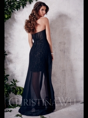 Sweetheart High Low Christina Wu Occasions Bridesmaid Dress 22662