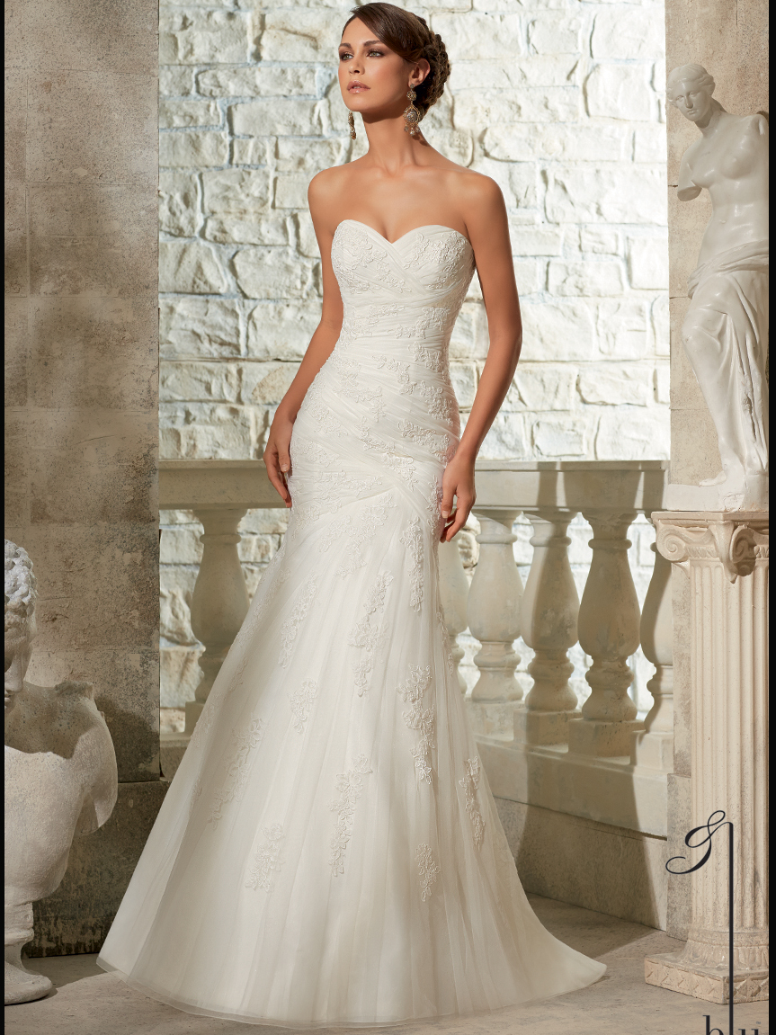 Mori Lee Blu Bridal Gown 5309
