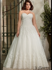 Sweetheart Lace With Tulle Ball Gown Mori Lee Julietta Wedding Dress 3178