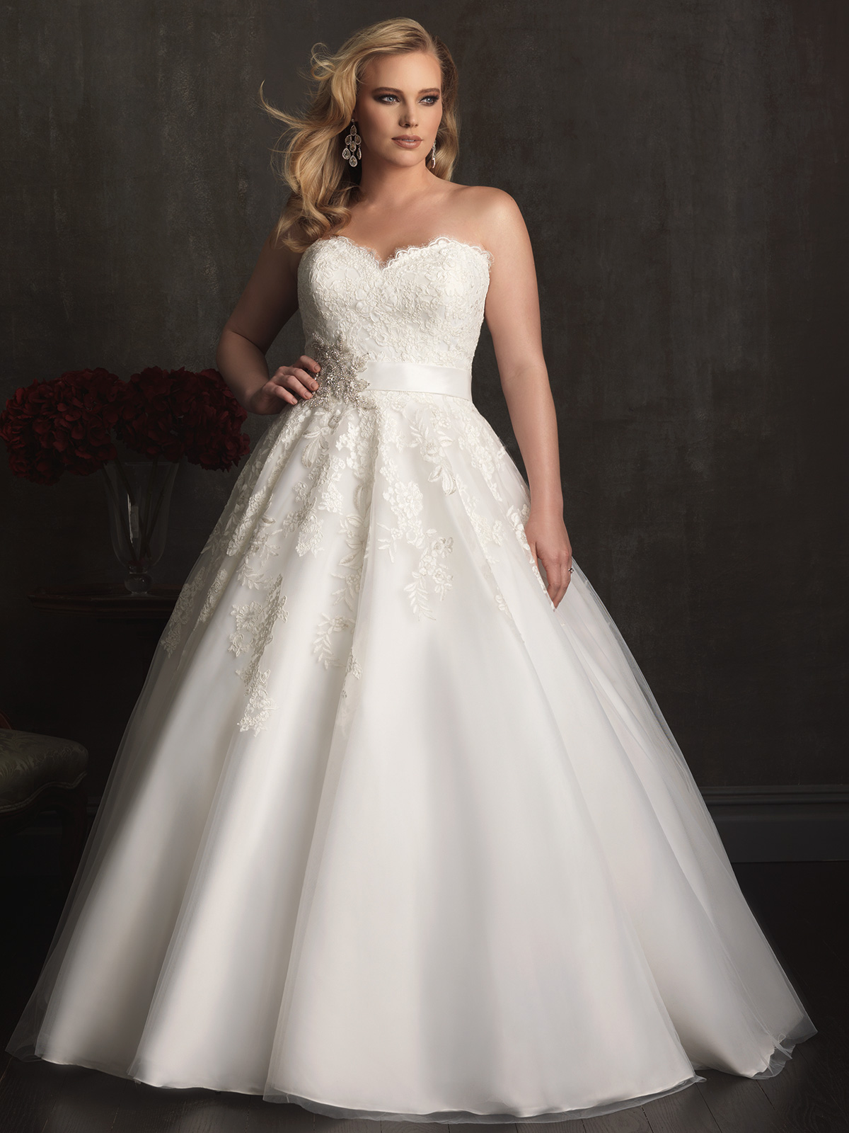 sweetheart ball gown allure women bridal gown w320