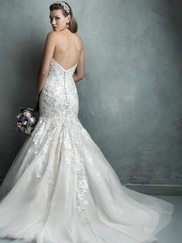 Sweetheart Mermaid Allure Couture Wedding Dress C331