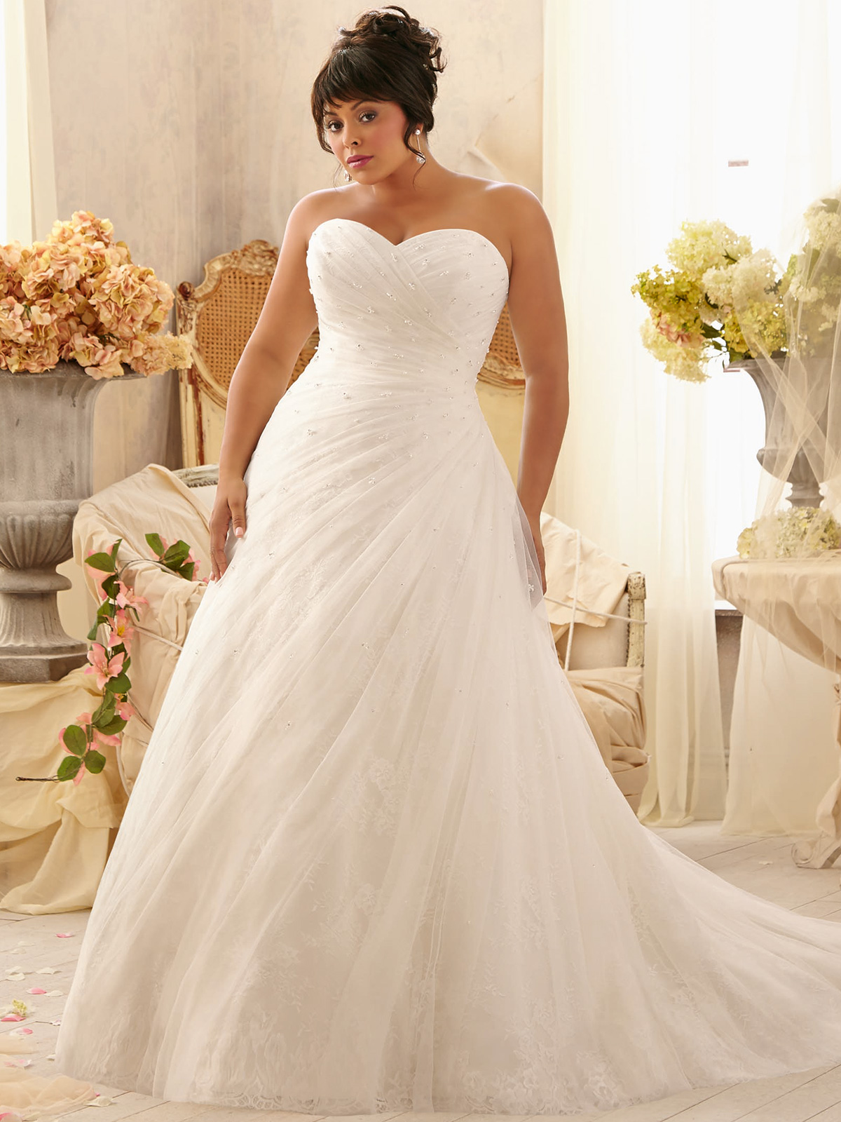 Plus size beaded bridesmaid dresses