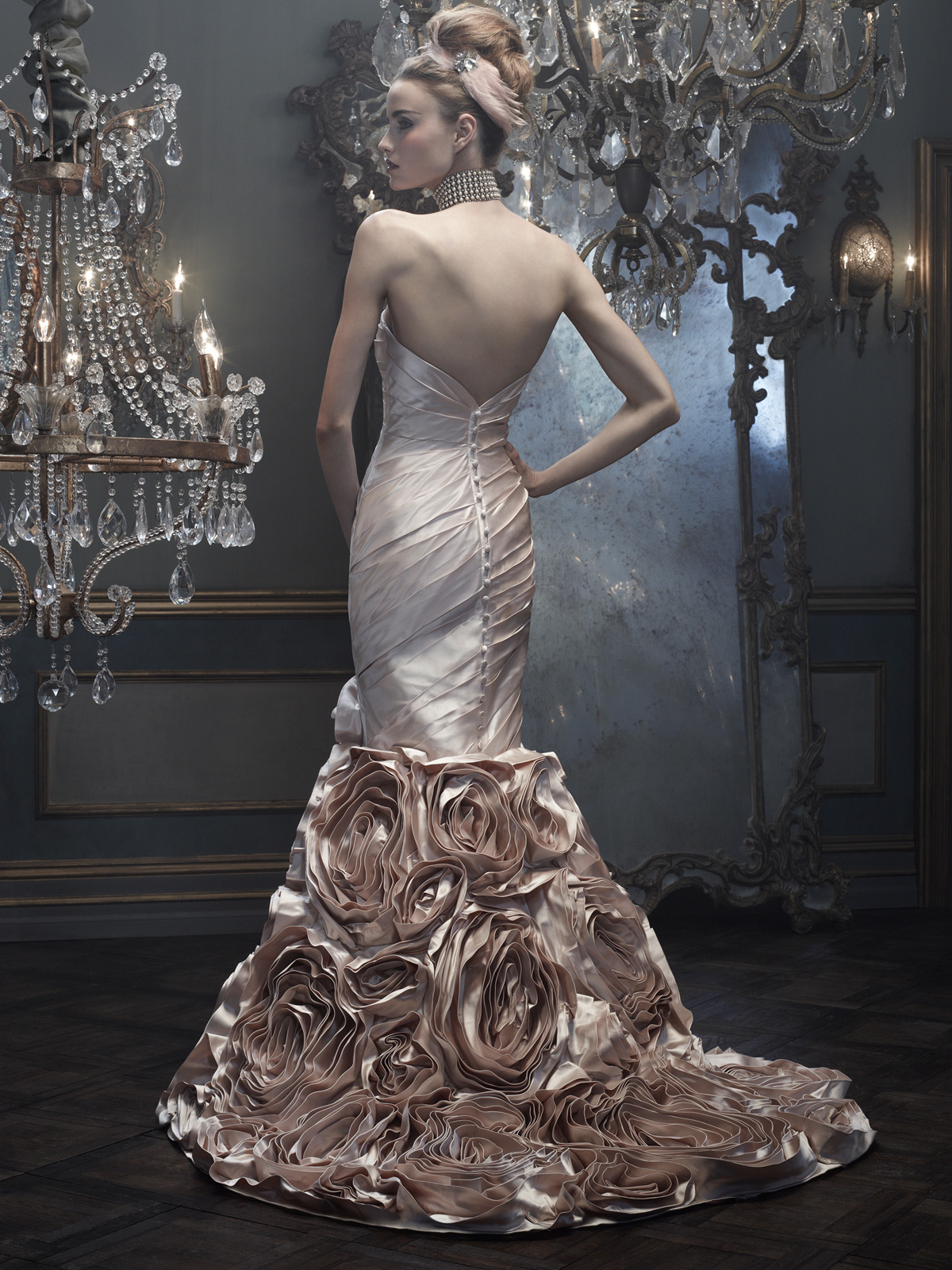 Sweetheart mermaid cb couture bridal gown b074 for Cb couture wedding dresses
