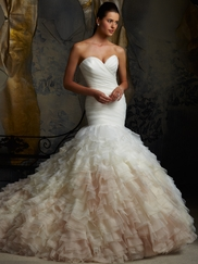 Sweetheart Pleated Bridal Gown Mori Lee Blu 5101