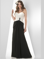 Sweetheart Pleated Bridesmaid Dress Bari Jay 850