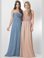 Sweetheart Pleated Bridesmaid Dress Bari Jay 854
