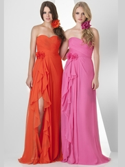 Sweetheart Pleated Bridesmaid Dress Bari Jay 881
