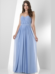 Sweetheart Pleated Bridesmaid Dress Bari Jay 886