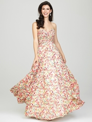 Sweetheart Printed Allure Bridesmaids Long Dress 1440