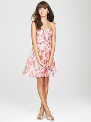 Sweetheart Printed Allure Bridesmaids Short Dress 1435