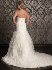 Sweetheart Ruched Bodice Bridal Gown Allure Women W310