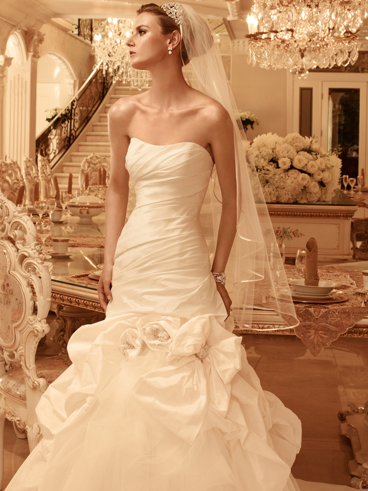 Sweetheart Pick Up Casablanca Bridal Gown 2100|DimitraDesigns.com
