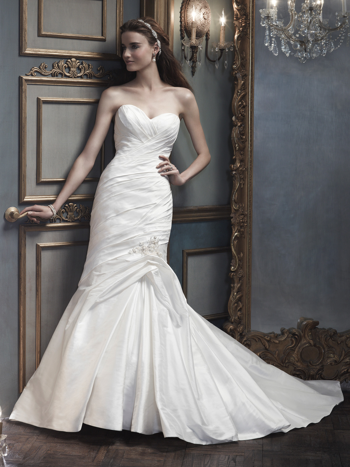 Sweetheart Trumpet CB Couture Bridal Gown B073|DimitraDesigns.com