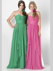 Sweetheart Ruched Bridesmaid Dress Bari Jay 866