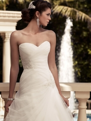 Sweetheart Ruched Organza Bridal Gown Casablanca 2109