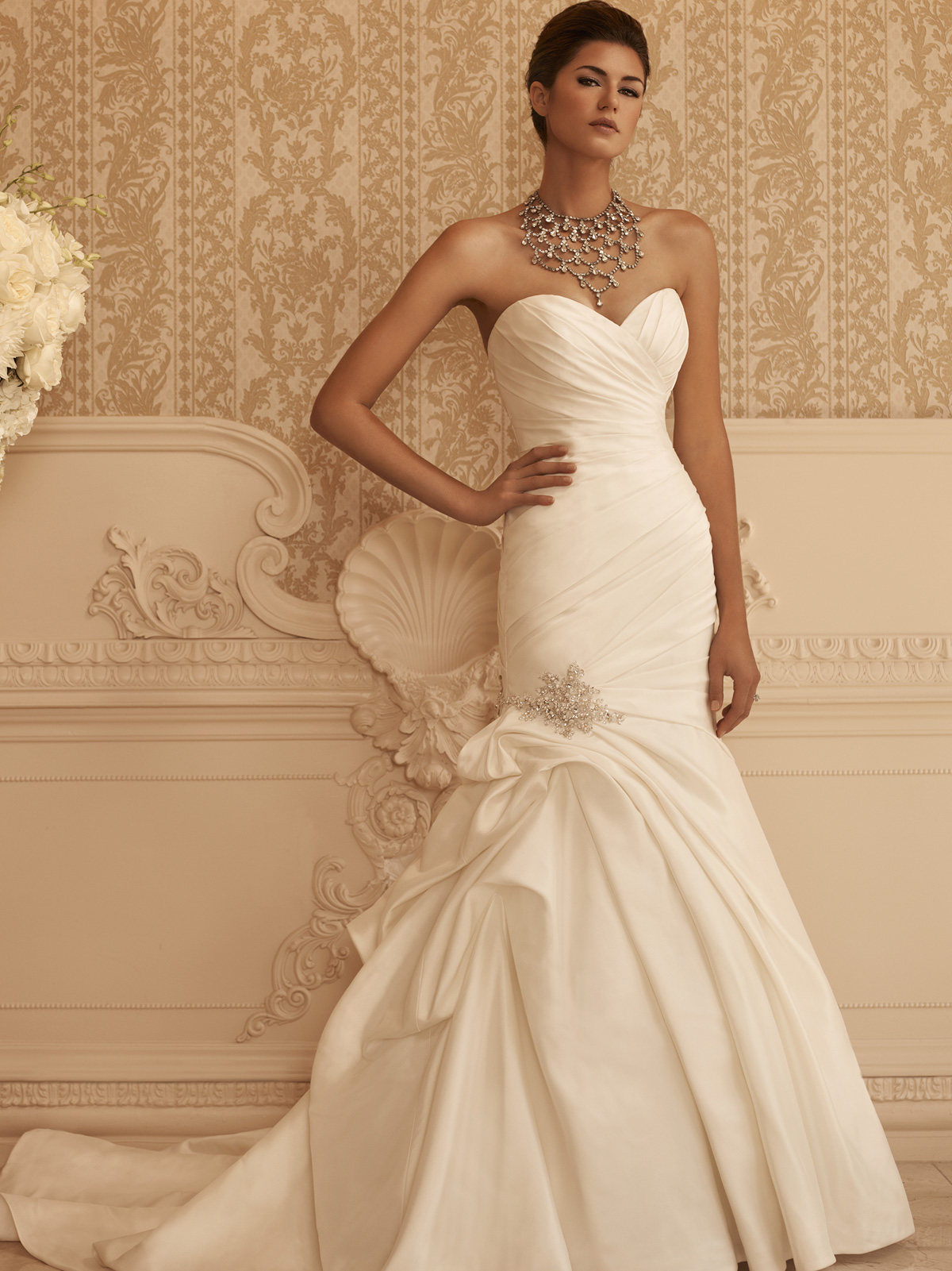 Sweetheart Fit And Flare Casablanca Bridal Gown 2106|DimitraDesigns.com