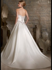 Sweetheart Satin Ball Gown Mori Lee Wedding Dress 2703