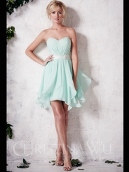 Sweetheart Short Christina Wu Occasions Bridesmaid Dress 22653