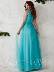 Tank Style Tulle A-line Christina Wu Occasions Bridesmaid Dress 22688