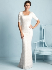 Three Quarter Sleeves Allure Modest Wedding Dress M532