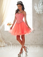 Tiffany 26820 Quinceañera Collection Beaded Bodice Ball Gown