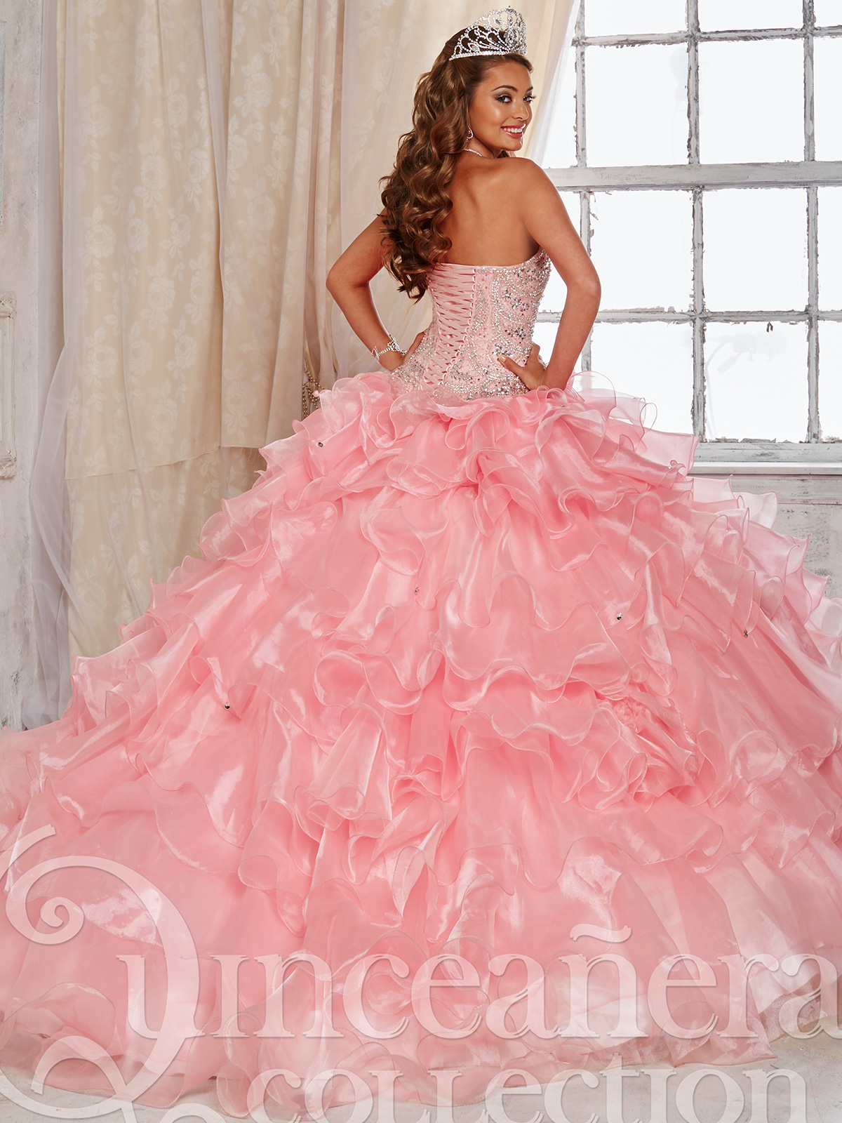 Tiffany Quinceañera Collection 26824 Ruffled Skirt Ball Gown ...