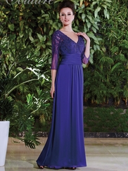 V-neck Beaded Lace Mother Of The Bride Dress Jade Couture K168007