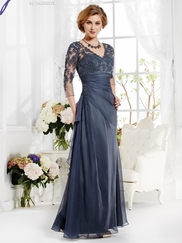 V-neck Lace Mother Of The Bride Dress Jade J165012