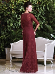 V-neck Laced Mother Of The Bride Dress Jade Couture K168010