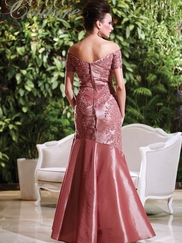 V-neck Pleated Mother Of The Bride Dress Jade Couture K168002
