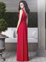 V-neck Ruched Bridesmaid Dress Dessy 2907