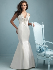 V-neck Satin Mermaid Allure Wedding Dress 9219