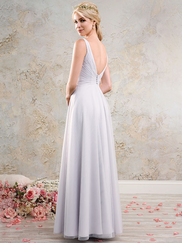 Vintage Alfred Angelo 8638L V-Neckline Bridesmaids Dress