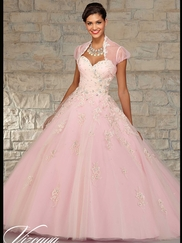 Vizcaya Quinceañera 89022 Embroidered Bodice Ball Gown